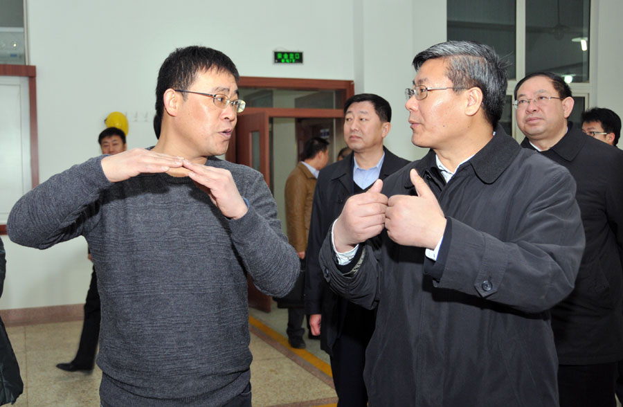 Gansu Province Vice Governor Li Rongcan and high level team visit Haimo Technolo