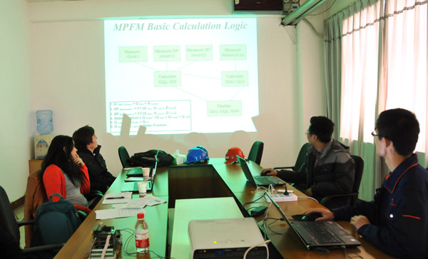Haimo organized a new MPFM product training session for engineers from OSS